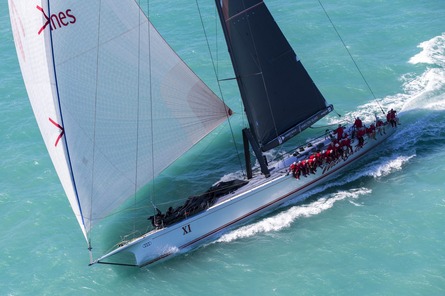 Wild Oats XI off and racing